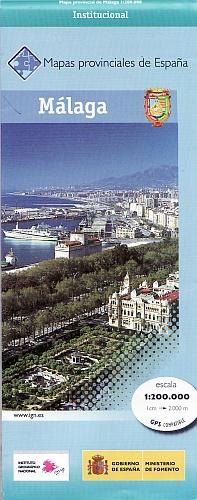 Prov.: Malaga 1:200.000 9788441624290  CNIG Provinciekaarten Spanje  Landkaarten en wegenkaarten Andalusië