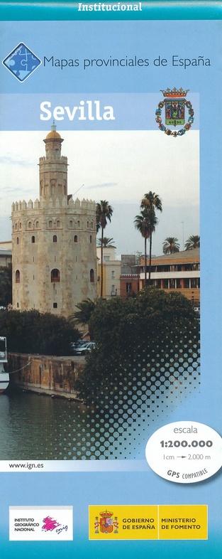 Prov.: Sevilla 1:200.000 9788441625952  CNIG Provinciekaarten Spanje  Landkaarten en wegenkaarten Andalusië