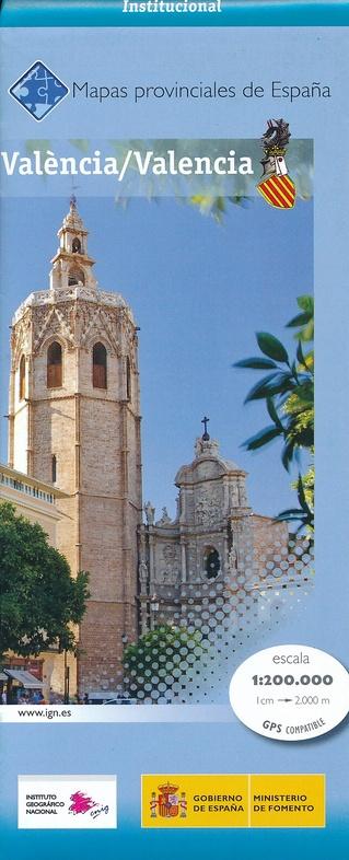 Prov.: Valencia 1:200.000 9788441628472  CNIG Provinciekaarten Spanje  Landkaarten en wegenkaarten Valencia