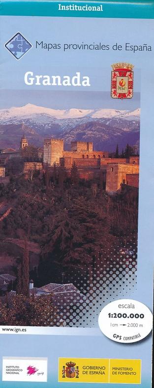 Prov.: Granada 1:200.000 9788441632509  CNIG Provinciekaarten Spanje  Landkaarten en wegenkaarten Andalusië