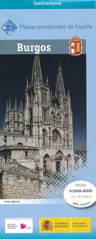 Prov.: Burgos 1:200.000 9788441636743  CNIG Provinciekaarten Spanje  Landkaarten en wegenkaarten Noordwest-Spanje, Compostela, Picos de Europa
