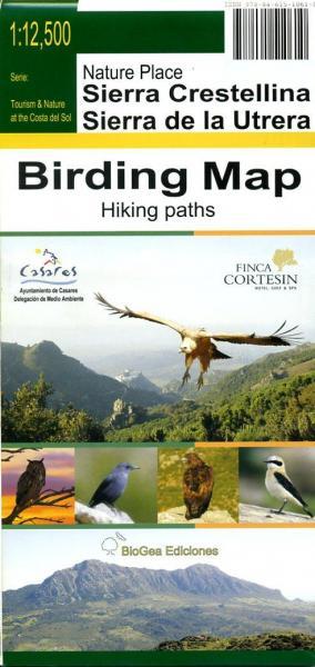 Sierra Crestellina & Sierra de la Utrera 1:25.000 9788461510610 Tourism & Nature at the Costa del Sol BioGea Ediciones Wandelkaarten Spanje  Vogelboeken, Wandelkaarten Andalusië