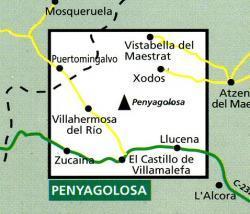 Penyagolosa 1:30.000 9788480900706  Editorial Alpina Wandelkaarten Spanje  Wandelkaarten Valencia