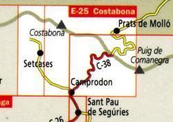 Costabona 1:25.000 9788480901970  Editorial Alpina Wandelkaarten Spanje  Wandelkaarten Catalonië