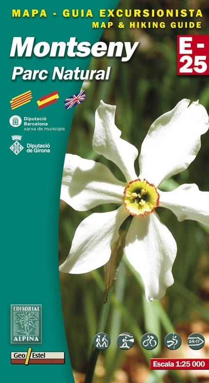 Montseny 1:25.000 9788480902328  Editorial Alpina Wandelkaarten Spanje  Wandelkaarten Catalonië