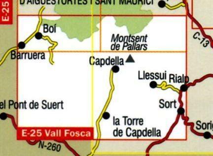 Vall Fosca, Montsent de Pallars 1:25.000 9788480902755  Editorial Alpina Wandelkaarten Spaanse Pyreneeë  Wandelkaarten Spaanse Pyreneeën