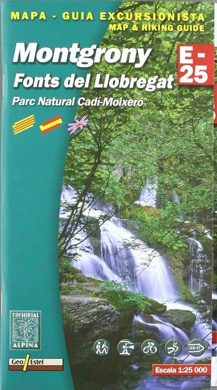 Montgrony 1:25.000 9788480903455  Editorial Alpina Wandelkaarten Spaanse Pyreneeë  Wandelkaarten Spaanse Pyreneeën
