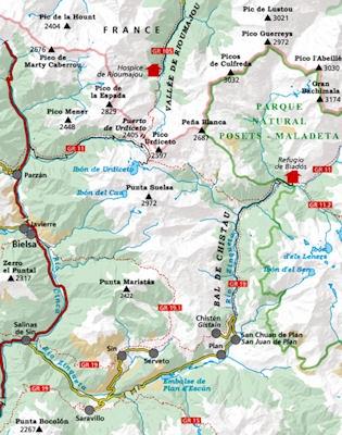 Bachimala, Valles de Chistau y Bielsa 1:25.000 9788480904018  Editorial Alpina Wandelkaarten Spaanse Pyreneeë  Wandelkaarten Spaanse Pyreneeën