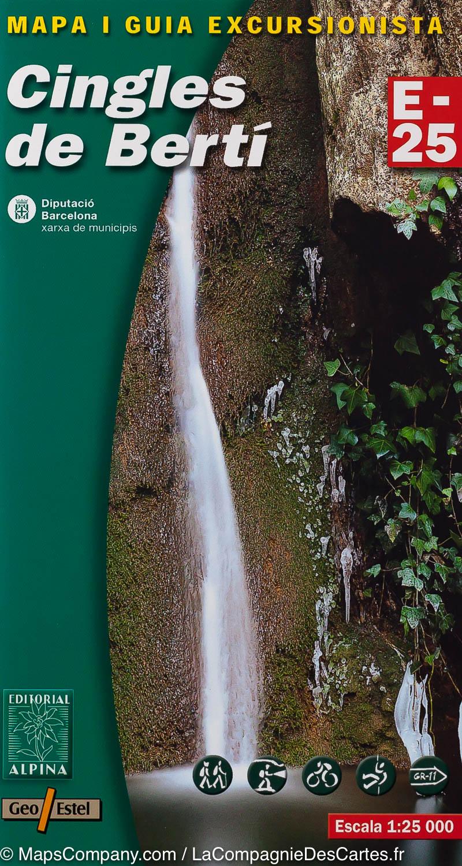 Cingles de Berti 1:25.000 9788480904988  Editorial Alpina Wandelkaarten Spanje  Wandelkaarten Catalonië