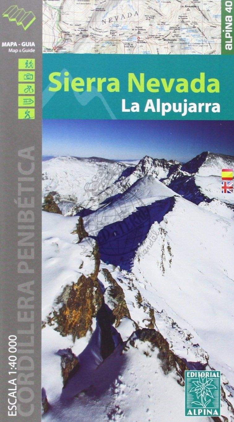 Sierra Nevada 1:40.000 (English!) 9788480905367  Editorial Alpina Wandelkaarten Spanje  Wandelkaarten Andalusië
