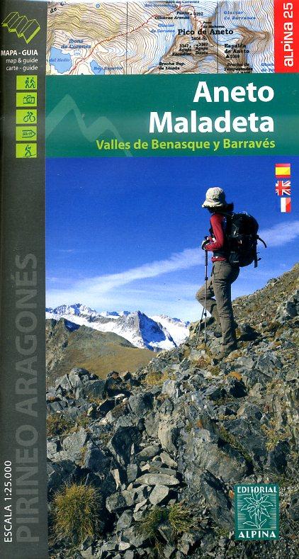 Aneto, Maladeta 9788480905718  Editorial Alpina Wandelkaarten Spaanse Pyreneeë  Wandelkaarten Spaanse Pyreneeën