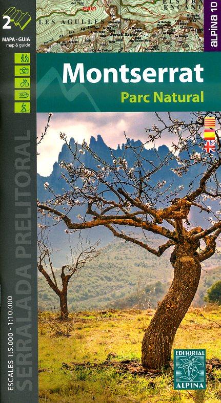 Montserrat 1:10.000 9788480905794  Editorial Alpina Wandelkaarten Spanje  Wandelkaarten Catalonië