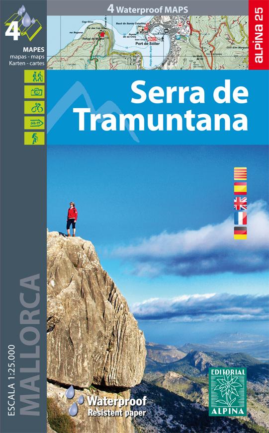 Serra de Tramuntana (Mallorca) 9788480905862  Editorial Alpina Wandelkaarten Spanje  Meerdaagse wandelroutes, Wandelkaarten Mallorca