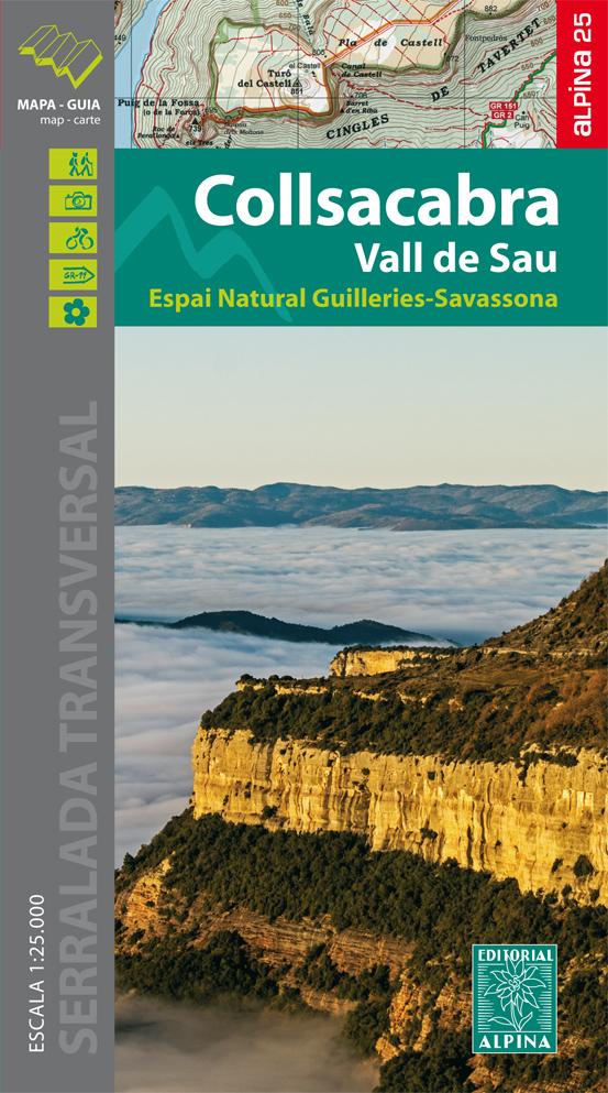 Collsacabra, Vall de Sau 1:25.000 9788480906067  Editorial Alpina Wandelkaarten Spanje  Wandelkaarten Catalonië