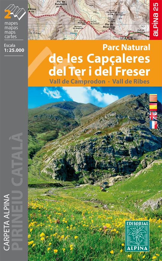 Capçaleres del Ter i del Freser Parc Natural 1:25.000 9788480906272  Editorial Alpina Wandelkaarten Spaanse Pyreneeë  Wandelkaarten Spaanse Pyreneeën