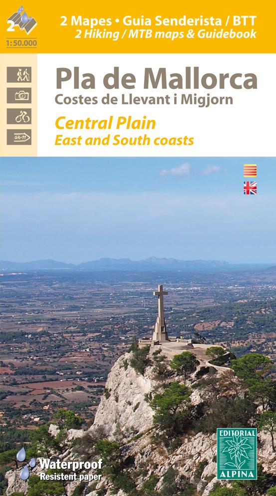 Mallorca centaal en oost hiking map & guide MTB 9788480906296  Editorial Alpina Wandelkaarten Spanje  Fietskaarten, Wandelkaarten Mallorca