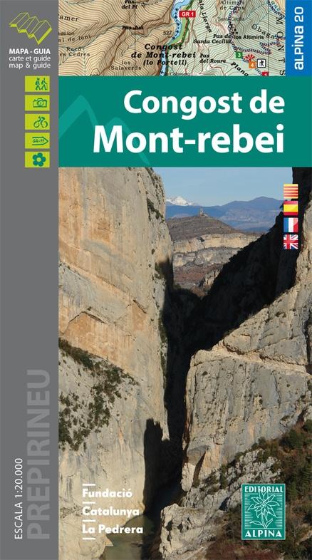 Congost de Mont Rebei 1:20.000 9788480906470  Editorial Alpina Wandelkaarten Spaanse Pyreneeë  Wandelkaarten Spaanse Pyreneeën