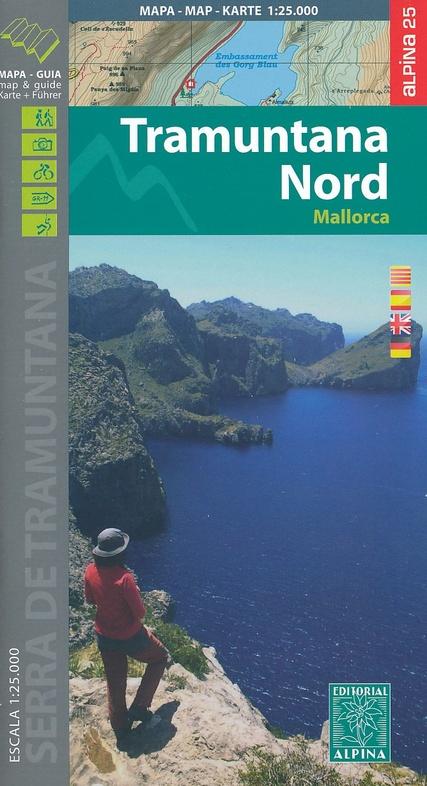 Tramuntana North-Mallorca 1:25.000 9788480906487  Editorial Alpina Wandelkaarten Spanje  Wandelkaarten Mallorca