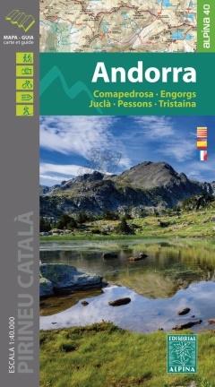 Andorra 1:40.000 9788480906623  Editorial Alpina Wandelkaarten Spaanse Pyreneeë  Wandelkaarten Spaanse Pyreneeën