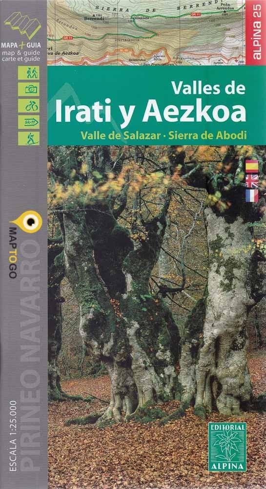 Valles de Iraty y Aezkoa, 1:25.000 9788480906685  Editorial Alpina Wandelkaarten Spaanse Pyreneeë  Wandelkaarten Baskenland