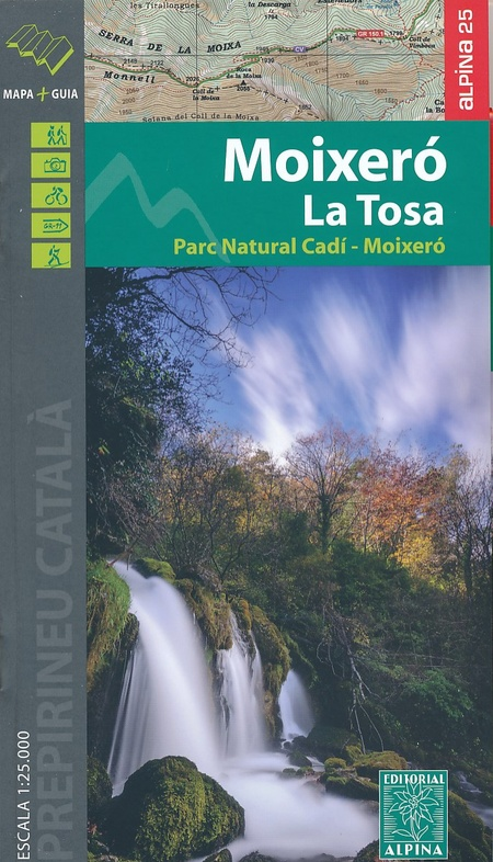 Moixero la Tosa, Parque Nacional Cadi-Moixero 1:25.000 9788480906777  Editorial Alpina Wandelkaarten Spaanse Pyreneeë  Wandelkaarten Spaanse Pyreneeën