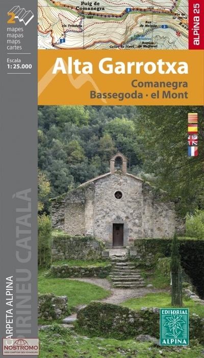 Alta Garrotxa 1:25.000 9788480907538  Editorial Alpina Wandelkaarten Spaanse Pyreneeë  Wandelkaarten Spaanse Pyreneeën