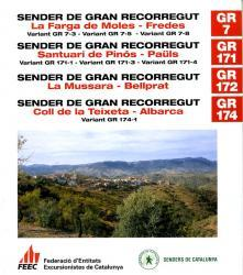 GR-7, GR171, GR172, GR174 9788492059454  FEEC   Meerdaagse wandelroutes, Wandelgidsen Catalonië