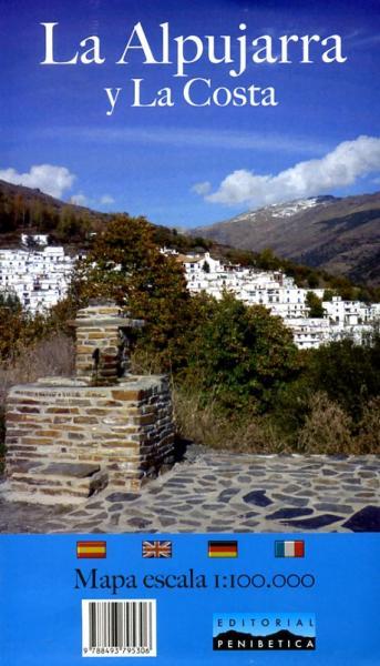 La Alpujarra y la Costa 1:100.000 9788493795306  Penibetica   Landkaarten en wegenkaarten Andalusië