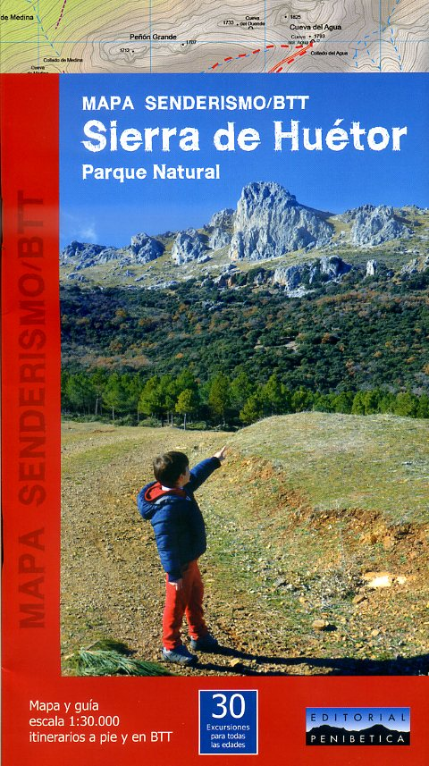 Sierra de Huétor Parque Natural 1:30.000 9788493795351  Penibetica   Wandelkaarten Andalusië