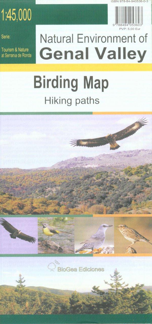 Genal Valley, Birding Map 1:45.000 9788494053603  BioGea Ediciones Wandelkaarten Spanje  Vogelboeken, Wandelkaarten Andalusië
