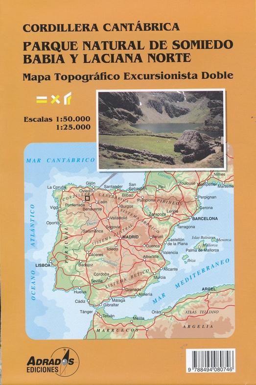 Parque Natural de Somiedo 1:60.000 y 1:30.000 wandelkaart 9788494080746  Adrados Wandelkaarten Spanje  Wandelkaarten Noordwest-Spanje