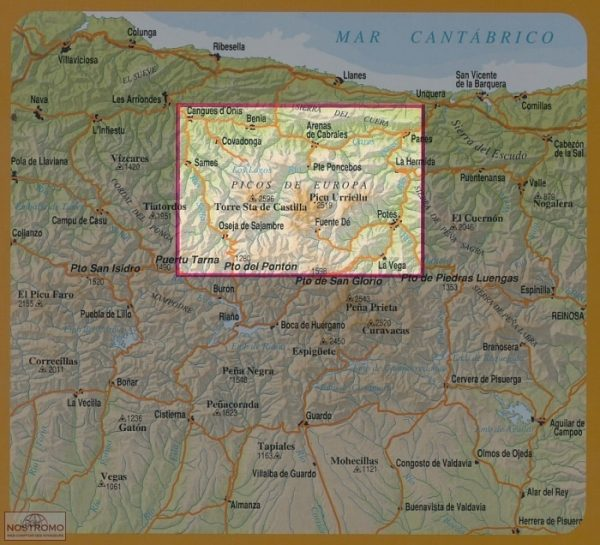 Picos de Europa National Park Map 1:50.000 9788494080753  Adrados   Wandelkaarten Noordwest-Spanje, Compostela, Picos de Europa