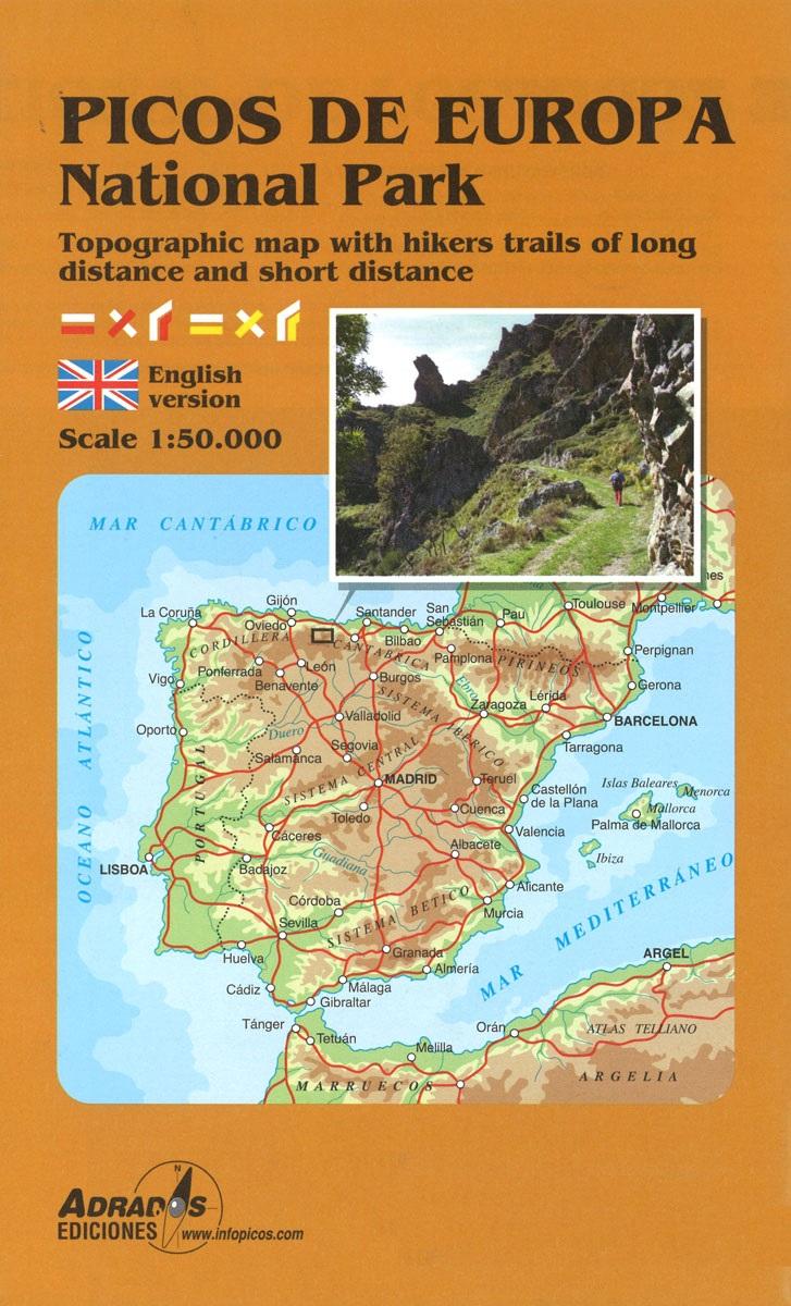 Picos de Europa National Park Map 1:50.000 9788494080753  Adrados   Wandelkaarten Picos de Europa