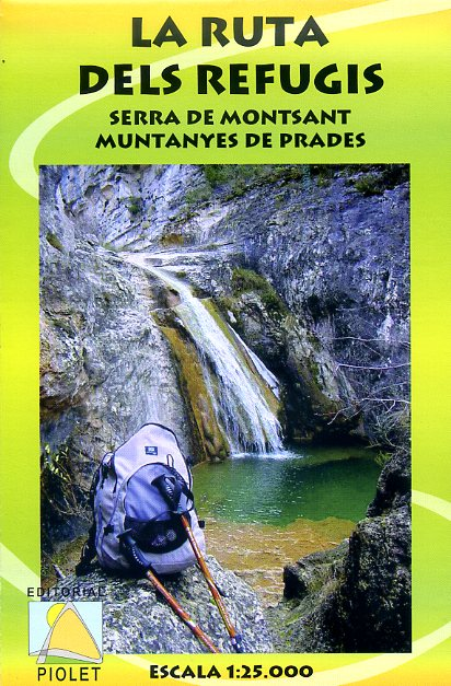 La Ruta dels Refugis 1:25.000 9788495945136  Editorial Piolet Wandelkaarten Spanje  Wandelkaarten Catalonië