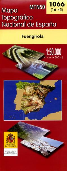 Hoja 1066 Fuengirola 9788496340350  CNIG Spanje 1:50.000  Wandelkaarten Andalusië