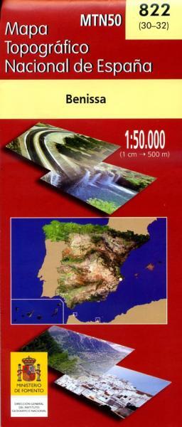Hoja -822 Benissa 9788498108736  CNIG Spanje 1:50.000  Wandelkaarten Costa Blanca