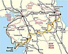 NN20  W2W Walney to Wear Route 9788711497623  Sustrans Nat. Cycle Network  Fietsgidsen, Meerdaagse fietsvakanties Northumberland, Yorkshire Dales & Moors, Peak District, Isle of Man