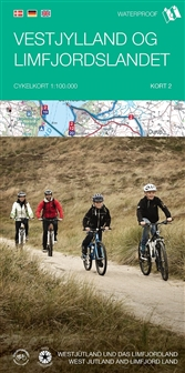 Kort-2 Vestjylland og Limfjordslandet (West-Jutland) 1:100.000 9788771552997  Cyklistforbundet fietskaarten Denemarken  Fietskaarten Denemarken