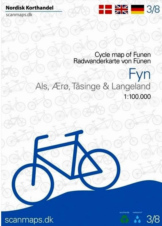 SM-3  Fyn (Funen) fietskaart 1:100.000 9788779671614  Scanmaps fietskaarten Denemarken  Fietskaarten Denemarken