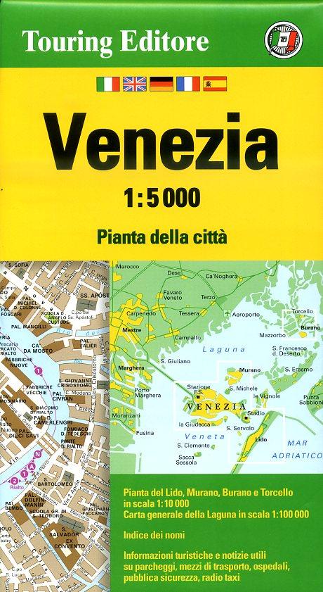 Venetië 1:5.000 9788836563777  TCI Touring Club of Italy   Stadsplattegronden Venetië, Veneto, Friuli