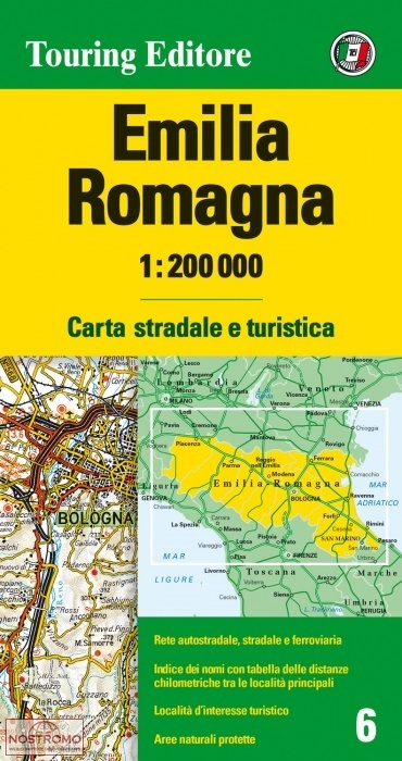 TCI-06  Emilia-Romagna 1:200.000 9788836569021  TCI Italië Wegenkaarten  Landkaarten en wegenkaarten Bologna, Emilia-Romagna