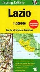 TCI-10  Lazio / Roma 1:200.000 9788836569038  TCI Italië Wegenkaarten  Landkaarten en wegenkaarten Rome, Lazio