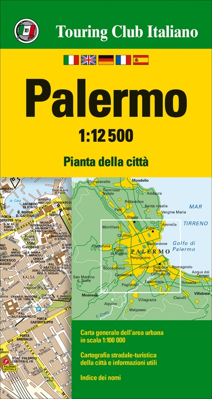 Palermo 1:12.500 9788836569182  TCI Touring Club of Italy   Stadsplattegronden Sicilië