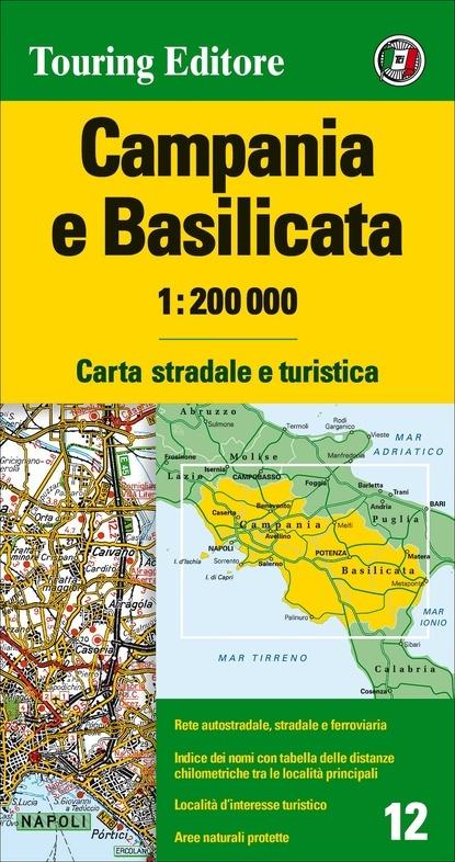 TCI-12  Campania / Basilicata 1:200.000 9788836570898  TCI Italië Wegenkaarten  Landkaarten en wegenkaarten Basilicata, Napels, Amalfi, Campanië