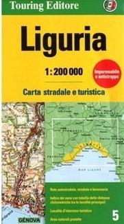 TCI-05  Liguria (Ligurië) / Riviera   1:200.000 9788836570904  TCI Italië Wegenkaarten  Landkaarten en wegenkaarten Genua, Ligurië