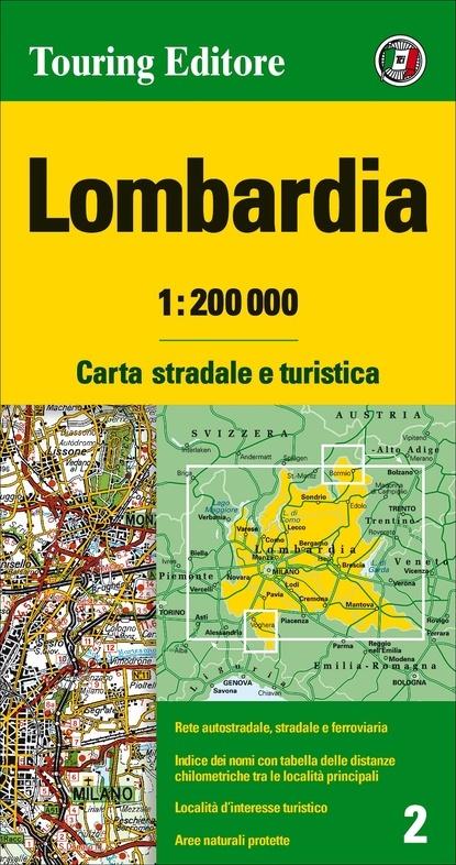 TCI-02  Lombardia 1:200.000 9788836570911  TCI Italië Wegenkaarten  Landkaarten en wegenkaarten Turijn, Piemonte