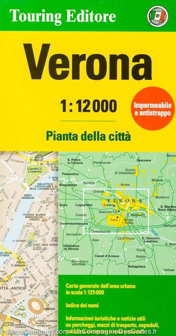Verona 1:12.000 9788836573394  TCI Touring Club of Italy   Stadsplattegronden Venetië, Veneto, Friuli