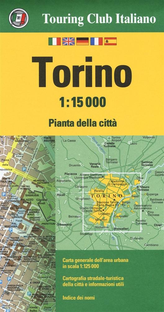 Torino 1:15.000 9788836573400  TCI Touring Club of Italy   Stadsplattegronden Turijn, Piemonte
