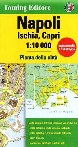 Napels 1:10.000 Napoli 9788836573424  TCI   Stadsplattegronden Napels, Amalfi, Campanië