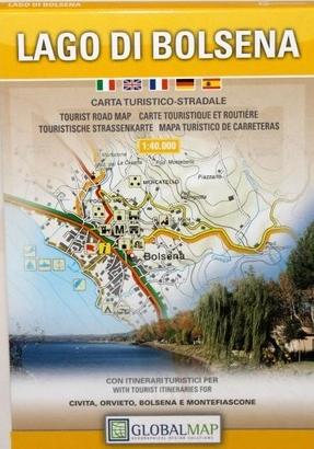 Lago di Bolsena 1:40.000 9788879143486  Global Map   Wandelkaarten Rome, Lazio